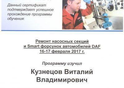 Диагностика и ремнт насосных секций и Smart инжектор Delphi автомобилей DAF 105