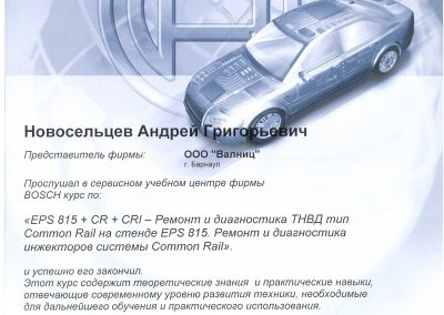 Диагностика и ремонт ТНВД Common Rail Bosch
